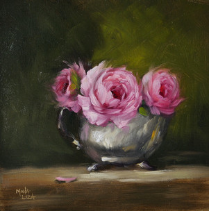 Pink Roses from my Garden - SOLD