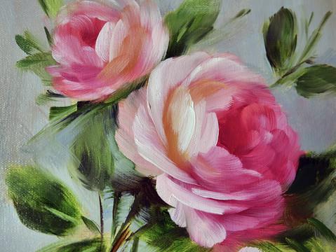 A spray of garden roses