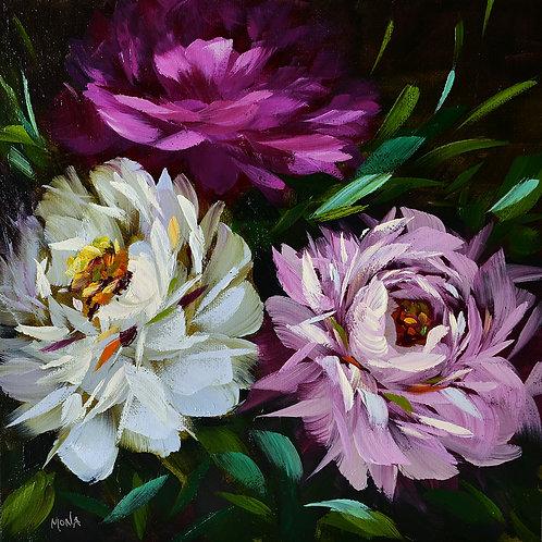 """Garden peonies"" Painting B"