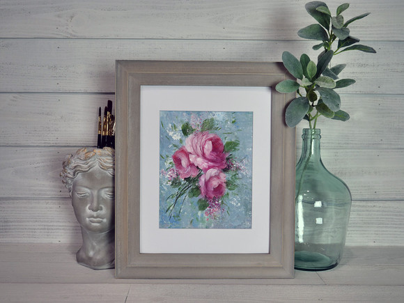 Trio of Roses Framed