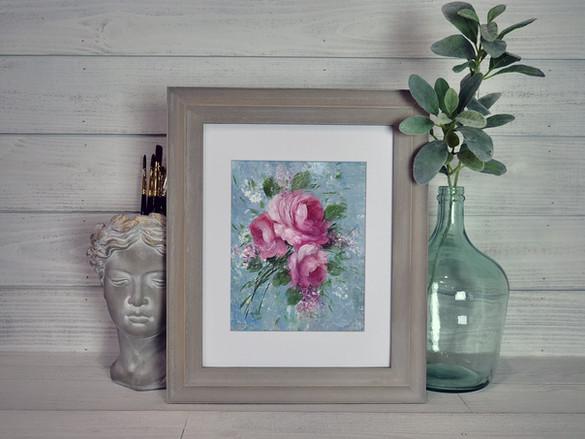 Trio of Roses Framed
