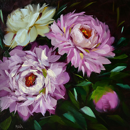 """Garden peonies"" Painting A"