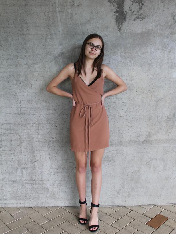 Dusky Blush Wrap Dress