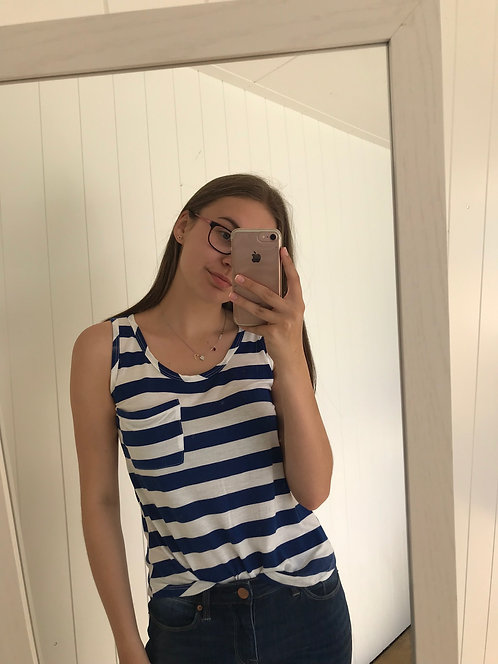 Blue Striped Tank