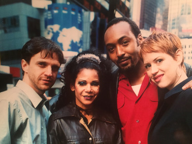 with Daphne Rubin-Vega, Jesse L. Martin, and Molly Ringwald