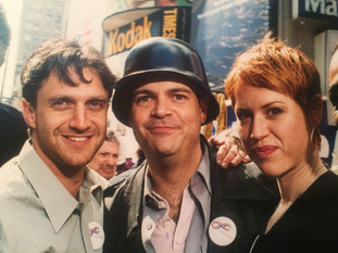 with Brad Oscar and Molly Ringwald