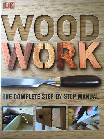 Photograph of 'Woodwork: The complete Step-by-step Manual which is recommended reading for the courses.
