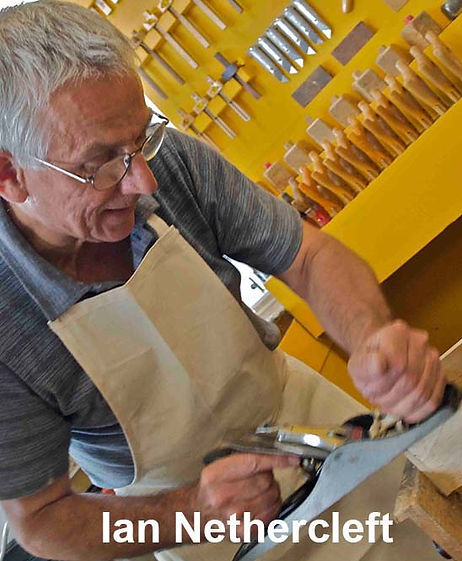 The London Woodwork Classes teacher demonstrating traditional planing skills.