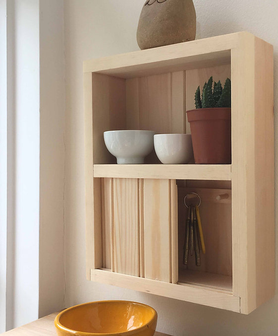 Dovetailed Key Cabinet with dovetails re