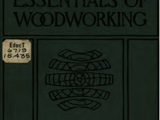 A Woodworking textbook first published in 1908 and available on line using this link...