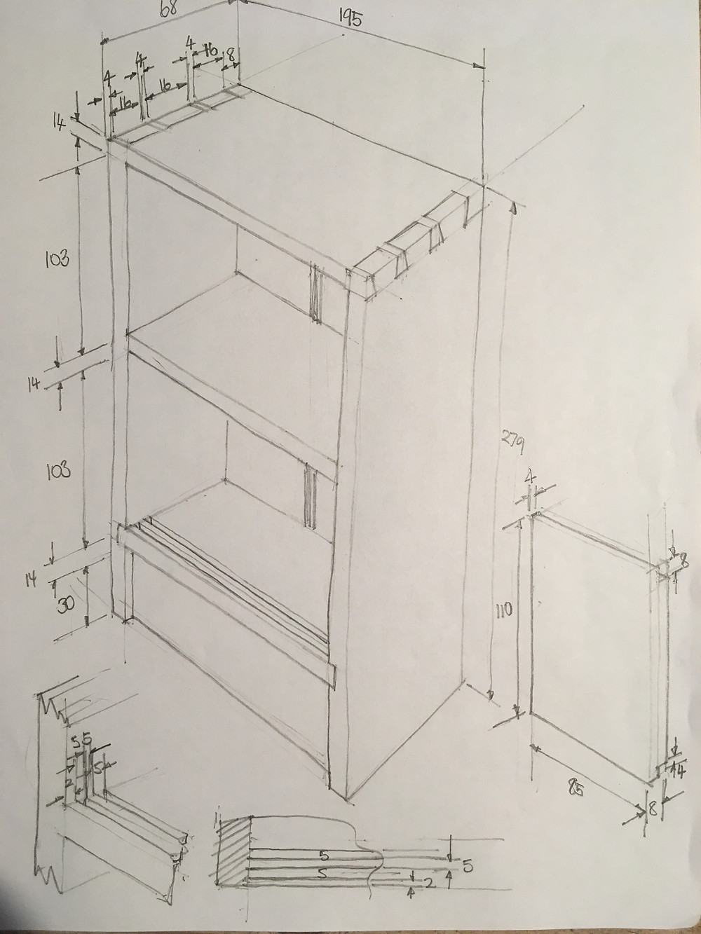 Plans for a small key cabinet woodwork project.