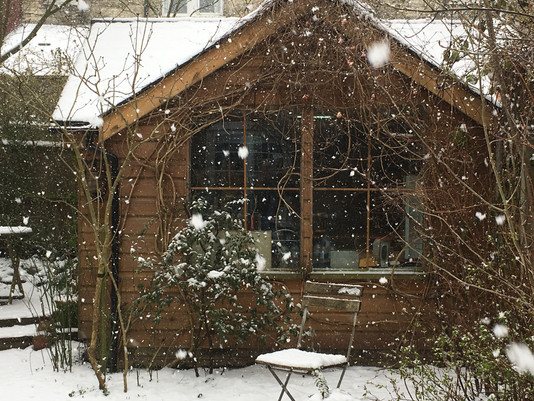 """Workshop in the snow...a safe haven from the """"Beast""""!"""