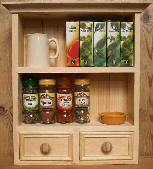 The filled spice rack made on the London woodwork course