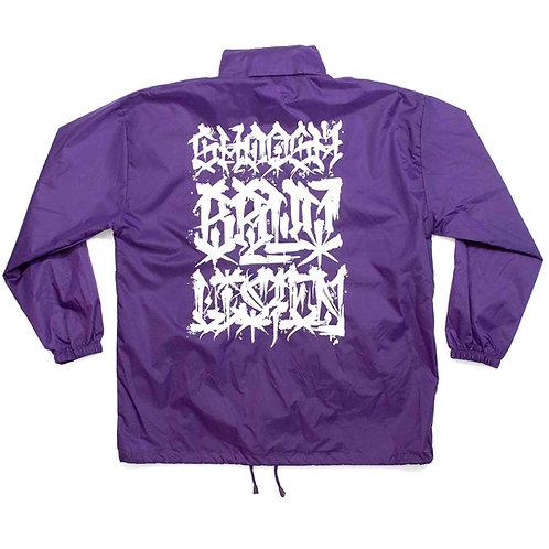 Shoosh Bruv Listen Windbreaker - Purple