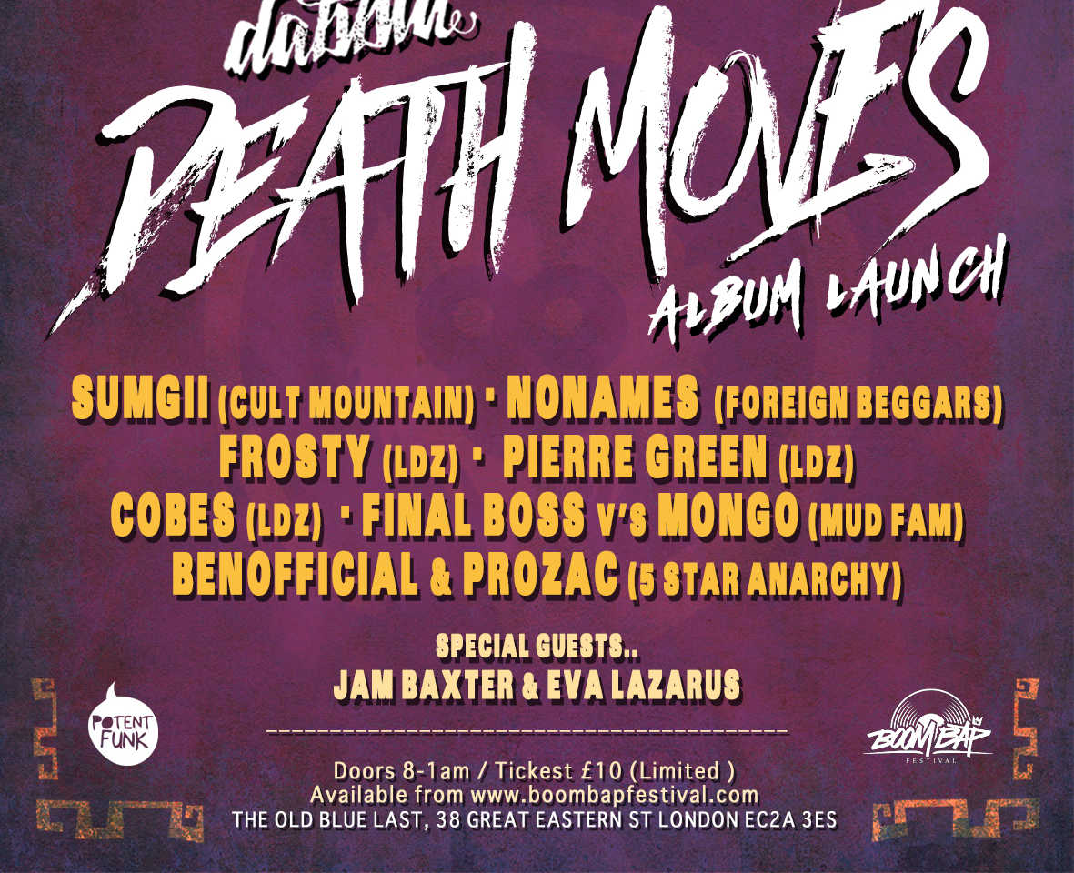 DEATH MOVES ALBUM LAUNCH 5th October 2018