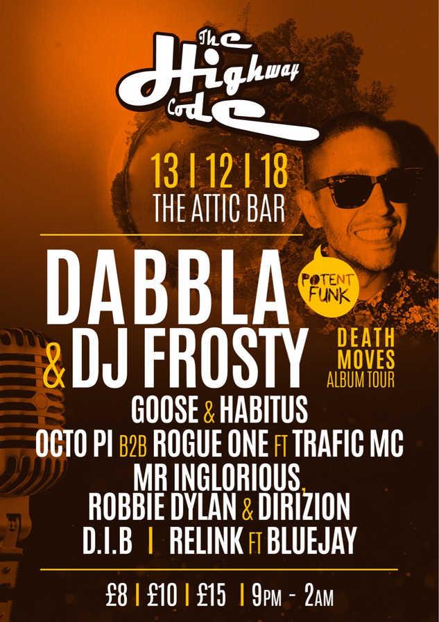 Dabbla & Frosty @ The Attic Bar 13/12/18