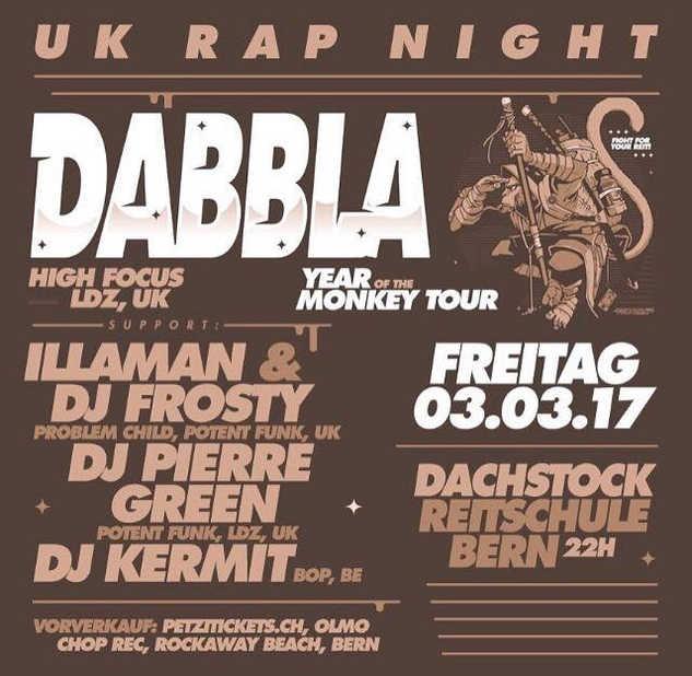 Dabbla @Dachstock, Berne March 2017