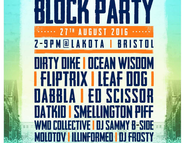 Dabbla High Focus Block Party @Lakota Bristol August 2016
