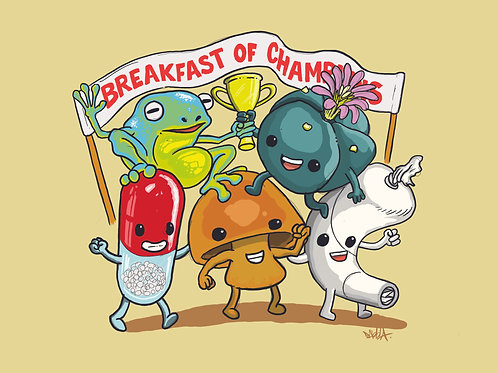 Breakfast Of Champions Prints  (90 x 65cm)
