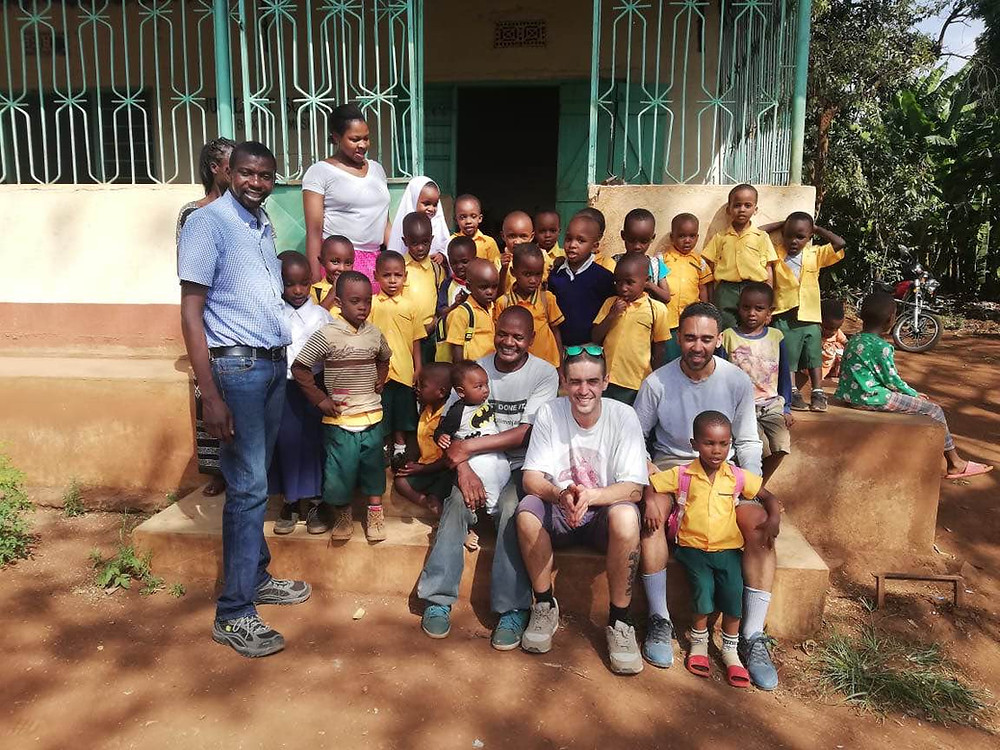 Dabbla and Lewis with Jubliant Tanzania School
