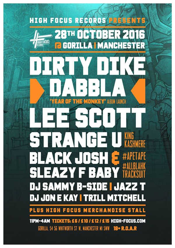 Dabbla @Gorilla, Manchester Oct 2016
