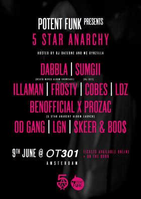 Potent Funk Label Party, 9th June 2018,  Amsterdam @OT301