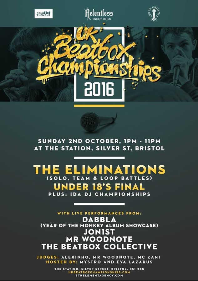 Dabbla @UKBeatBoxChampionships, Bristol Oct 2016
