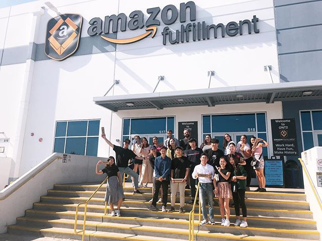 Business English students visited _amazo