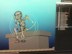 Death Model Posed
