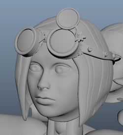 Finished face sculpt