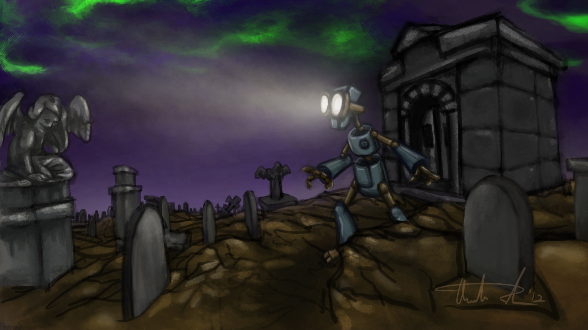 Death & the Robot Graveyard Concept