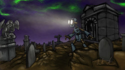 Death & the Robot Graveyard Concept