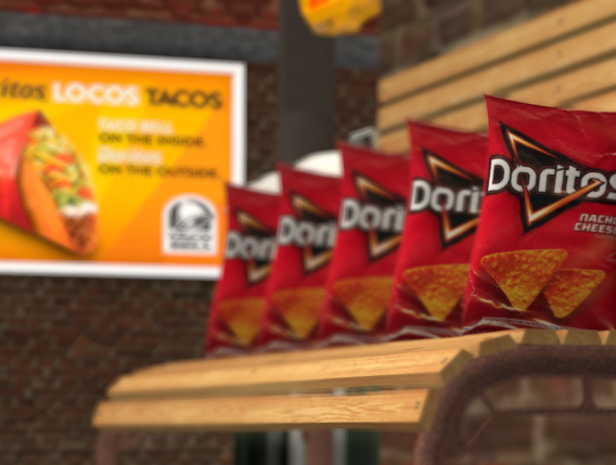 Doritos in a 3D VR space