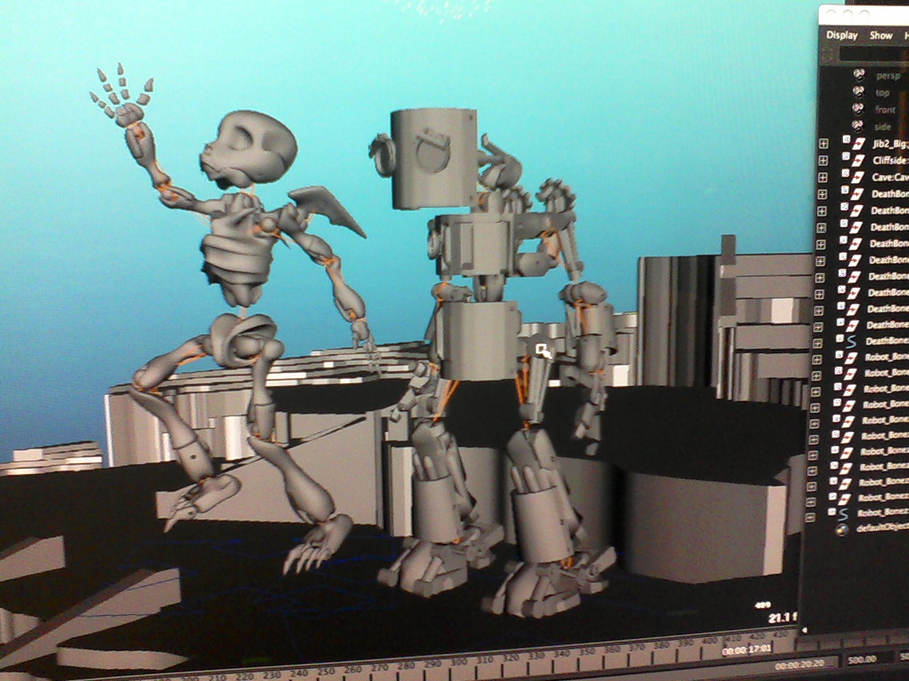 Death and Robot Model Posed