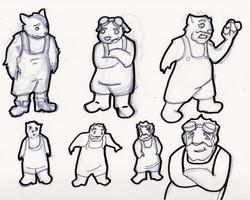 Clockwake Cartoon Character Designs