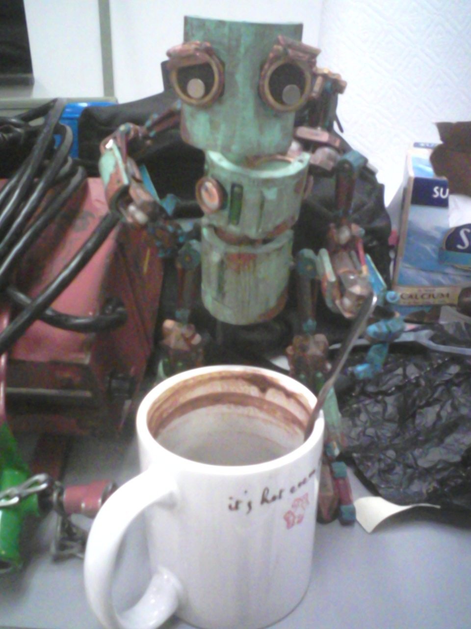 Robot needs coffee more than I do.