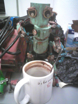 Robot needs coffee more than I do.
