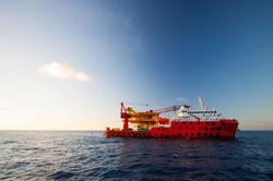 work vessels, side scan sonar
