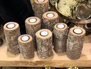 Der Natur entnommene Teelichthalter