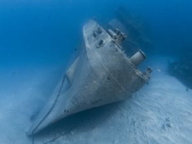 USS Kittiwake Wreck at the North end of Seven Mile Beach in Grand Cayman