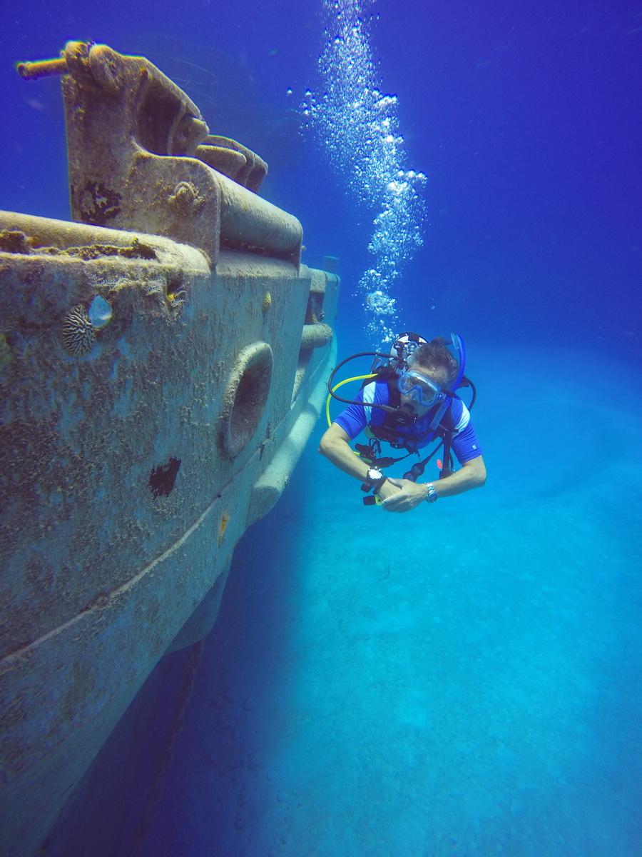 USS Kittiwake Starboard Bow