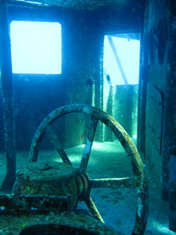 USS Kittiwake Helm