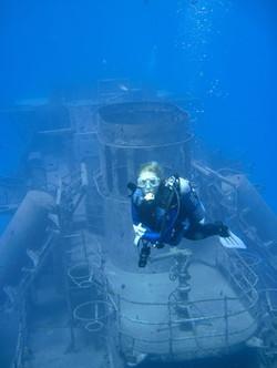 USS Kittiwake Stack