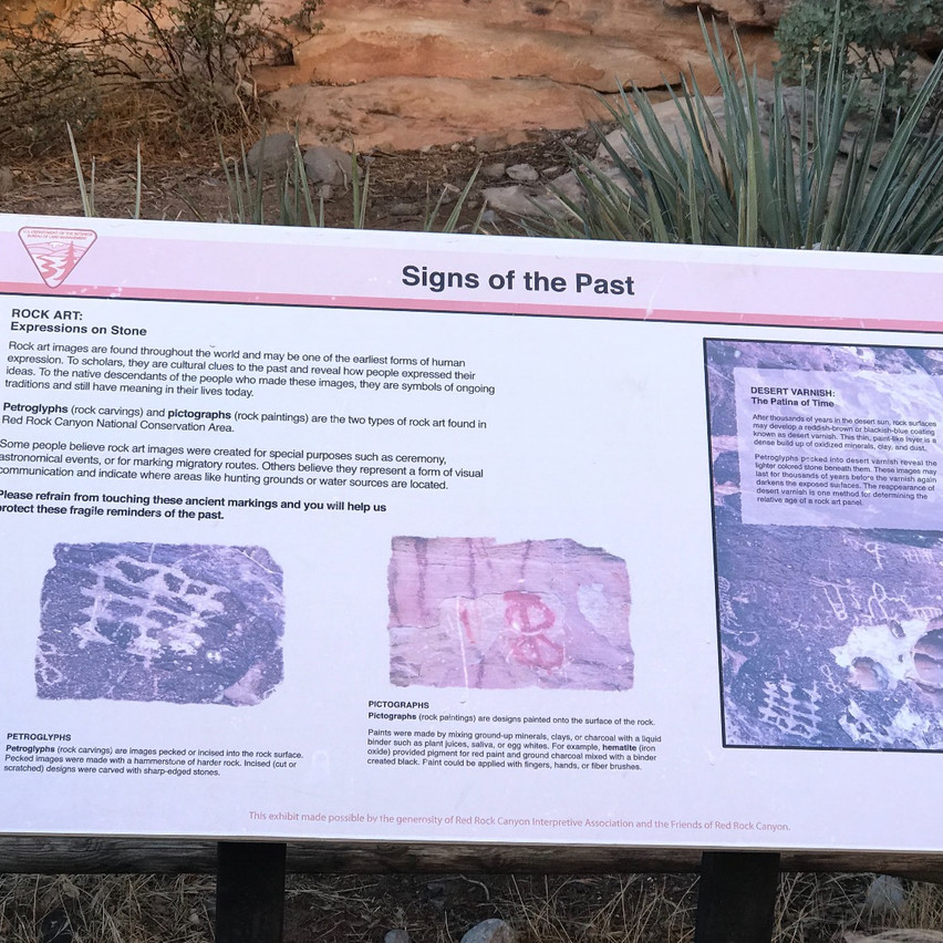 Lining the trails toward Lost Creek are various signage to educate those traveling on the trails