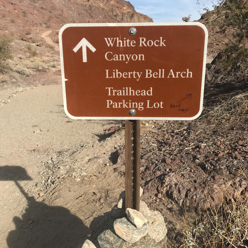 Though some signs are present on the White Rock Canyon route, when we visited the lack of signs in some of the areas made for a difficult time determining the path.    We have been told that the Hot Springs Trail is a bit more clearly marked.
