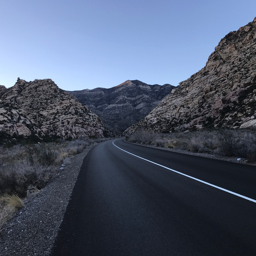 Roads at Red Rock are very clear and with exception of driving in and out of parking areas are one way.