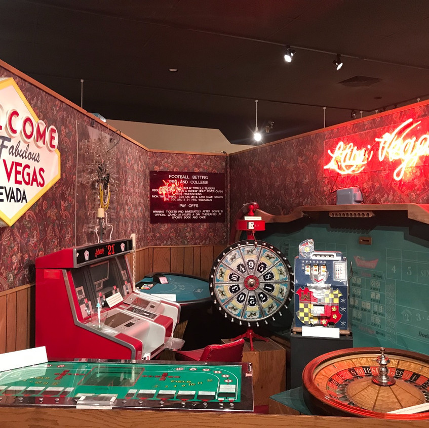 Some of the many items used in early casinos of Las Vegas