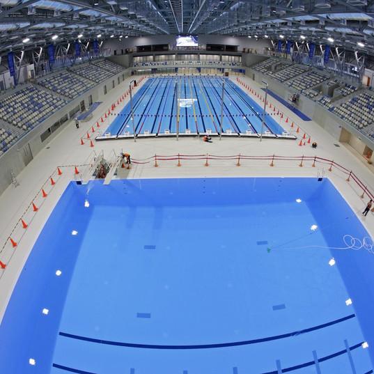 Tribuneanlegg til svømmehall