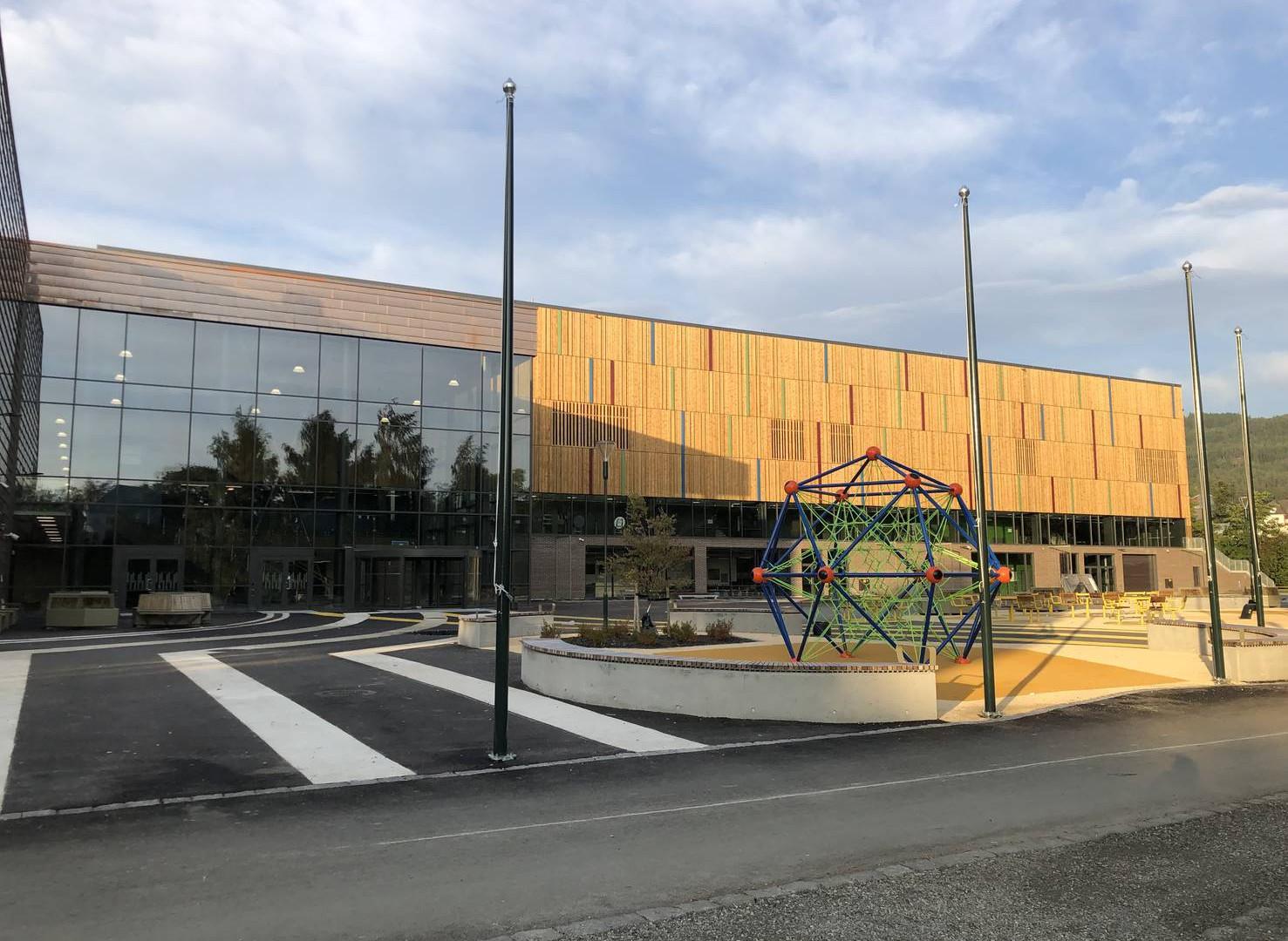 Nye Nidarøhallen fasade