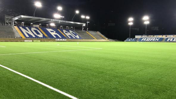 Tribune til Norac stadion i Arendal